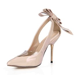 Images Rubber Shoes NZ - 2017 Dress Shoes Women Pumps High Thin Metal Heels Bow PVC Real Image Party Shoes Sandals Pointed Shoes Hollow Side Cheap Modest Sandals