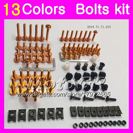 r6 bolt kit Canada - Fairing bolts full screw kit For YAMAHA R6 YZFR6 03 04 05 YZF-R6 YZF600 YZF 600 YZF R6 2003 2004 2005 Body Nuts screws nut bolt kit 13Colors