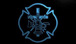 Motion fire online shopping - LS1703 b Firefighter Fire Helmet AXE Ladder Light Sign jpg
