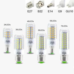 L'ampoule de l'angle LED de SMD5730 E27 GU10 B22 E12 E14 G9 LED ampoules 7W 9W 12W 15W 18W 110V 220V 360 a mené la lumière de maïs en Solde
