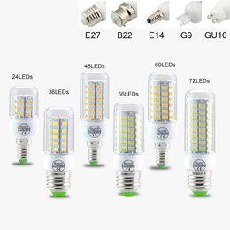 SMD5730 E27 GU10 B22 E12 E14 G9 LED Lamba 7 W 9 W 12 W 15 W 18 W 110 V 220 V 360 Açı LED Ampul LED Mısır Işık
