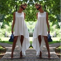 Black Evening Dresses For Ladies Australia - Hot 2017 Summer Women Sexy Sleeveless Irregular Casual Long Elegant Dress Evening Party Mintcream Dresses for Lady Vestidos