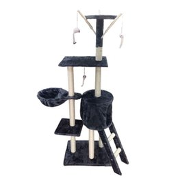 Hs wHolesale online shopping - Stairs Climbing Frame Five Layer Cat Tree Framework Pet House Play Platform Plush Cloth Factory Direct Marketing High Quality cy H R
