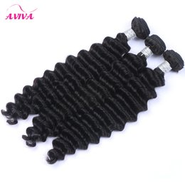 Chinese  Indian Deep Wave Curly Virgin Hair Weave Bundles Unprocessed Raw Indian Deep Curly Remy Human Hair Extensions Wefts 3Pcs lot Natural Color manufacturers
