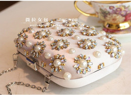 $enCountryForm.capitalKeyWord NZ - Ladies Korean pearl diamond flower banquet bag hand bag Bridesmaid Dress Wedding Bag