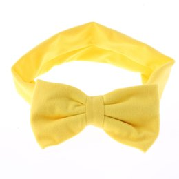 Étirement En Gros Pas Cher-Vente en gros - 1 x Kawaii Girls Kids Baby Soft Cotton Bow Hairband Bandeau Stretch Turban Knot Head Wrap Hair Band Accessoires