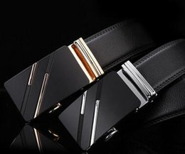 $enCountryForm.capitalKeyWord Canada - Best quality designer brand name fashion Men's Business Waist Belts Automatic buckle Genuine Leather belts For Men 100-135cm free shipping