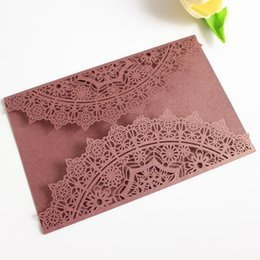$enCountryForm.capitalKeyWord Canada - Burgundy wine invitation flower wed invitation card laser cut bridal shower graduation birthday party invitations free ship