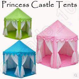 3 cores INS crianças barracas de brinquedo portátil princesa castelo jogo de jogo tenda atividade casa de fadas diversão interior ao ar livre Playhouse CCA5396 10 pcs em Promoção