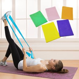 Yoga Exercise Resistance Band Canada - 150cm 5 Color yoga latex belt FItness Natural Tension Health Elastic Exercise Body Latex Stretching Pull Strap Resistance Bands