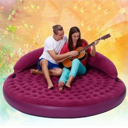bedding for adults 2018 - 191X53cm Purple diameter circular inflatable air sofa bed adult sex furnitures love making beds furnitures for couples g