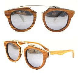 b6634a5076 Engraving Frame UK - Custom engraved logo fashion polarized wooden metal  sunglasses round Sunglasses