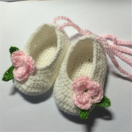 baby crochet customs Australia - QYFLYXUE- Crochet Malibu Baby flip flopsSummer Baby crochet bootees Baby Flip Flop Red White & Blue shoes Custom Free Shipping