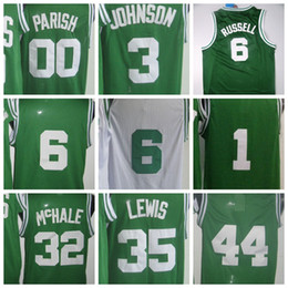 64b0a3b3ad3 Throwback 00 Robert Parish Green White 3 Dennis Johnson 6 Bill Russell 32  ...