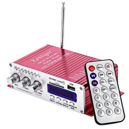 Portable Mp3 Amplifier Speaker Canada - 12V 2CH Remote control Portable Mini Wired Hi-Fi Stereo Output Power Amplifier Compatible with car, motorcycle, Mp3, Mp4, computer speaker