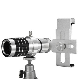 Mobile Telescope Canada - Telescope Camera Lens 12X Optical Zoom No Dark Corners Mobile Phone Telescope tripod for iPhone 6 7 Samsung smart phone telephoto lens