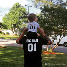 Little Tee Canada - Summer Family Look Shirt Big Little Man Family Matching Clothes Fashion Baby T Shirts Cotton Men Tops Tee Father And Son Clothes