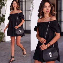 $enCountryForm.capitalKeyWord Canada - women dress A line skirt puff short sleeves slash neck summer t shirt black white fold lolita girls dresses YJ0231