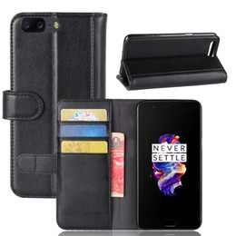 Oneplus Wallet Canada - Flip Cover for Oneplus 5, TPU Soft Case+ Genuine Leather Wallet Stand Case with Card Slots