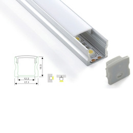led tube lights wholesale price UK - 10 X 1M sets lot Factory price led aluminium profile and U extrusion profile for led strip flooring or recessed wall lamps
