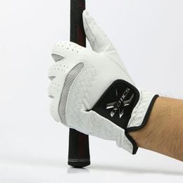 Men Gloves Leather Sheepskin Canada - 2017NEW Golf Gloves Men High quality Genuine Leather Men's Left Hand Soft Breathable Pure Sheepskin Leather sport glove