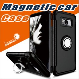 SheetS caSe online shopping - For Samsung S9 Iphone X NOTE Cellphone Case Mounter Dual Layer With Iron Sheet Car Holder Magnetic Bracket Ring Armor Phone Case