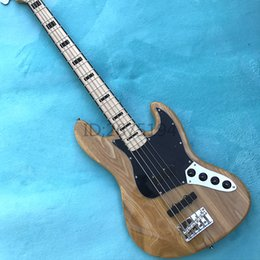 Left Basses Canada - Free shipping,Elm elm wood color electric bass, piano and maple neck (Canada), India rosewood sound perfect feel comfortable bar.