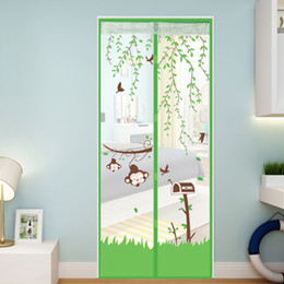 Ceiling Curtains online shopping - Eco Friendly Door Sheer Curtains Mosquito Curtain Prevent Magnetic Soft Screen Anti Mosquito Net Screen Stripe Magnet Printing