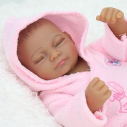 $enCountryForm.capitalKeyWord Canada - 28cm Black Skin Eye Closed Realistic Reborn Baby Doll Soft Silicone Vinyl Newborn Baby Girl Kids Child Birthday Present Gift Toy