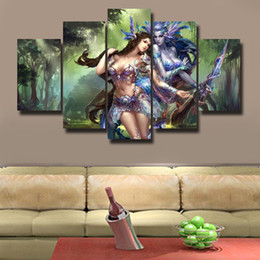 beautiful homes paint pictures NZ - 5 Pcs Set HD Picture Canvas Print Painting Modern Canvas Wall Art Gift For Home Decoration Beautiful picture#154