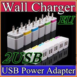G Charger Canada - Metal Dual USB wall Charging Charger US EU Plug 2.1A AC Power Adapter Wall Charger Plug 2 port for Iphone Samsung S7 S6 Note LG Tablet G-SC
