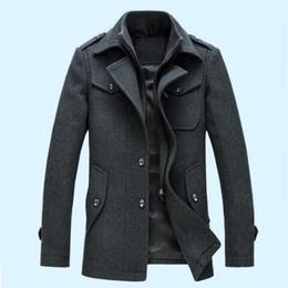 $enCountryForm.capitalKeyWord Canada - New Fashion Mens Winter Jacket Wool Coat Slim Fit Jackets Fashion Outerwear Warm Man Casual Jacket Men Overcoat Peacoat