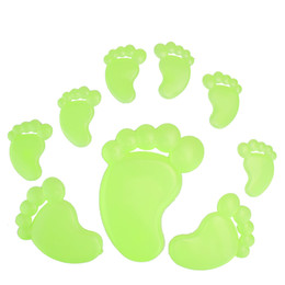 Footprints Stickers Canada - Diy Footprint kids wall sticker for kids rooms glow in the dark wall stickers home decor living rooms fluorescent poster art