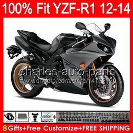$enCountryForm.capitalKeyWord Canada - gloss black 8gifts Injection For YAMAHA YZF-R1 12 13 14 YZF R1 12-14 96NO108 YZF 1000 YZF R 1 YZF1000 YZFR1 2012 2013 2014 TOP black Fairing