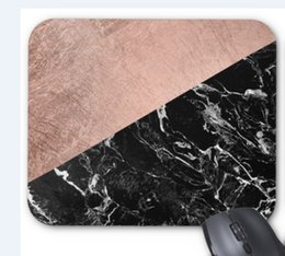 Black Blocks Canada - Rectangular non-slip natural rubber mouse mat modern stylish rose gold black marble color block mouse pad computer accessories office