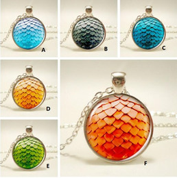 Discount game thrones glasses - 7 Colours Game of Thrones Time Gem Cabochon Necklace Dragon Egg Scale Glass Pendant Necklace Fashion Nice Gift Jewelry