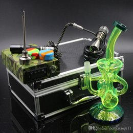 2018 original nails New D Nail Kits with Glass bong fab egg Bongs original Faberge Egg Water pipe recycler bongs oil rig glass discount orig