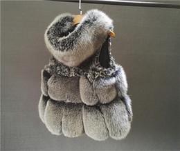 $enCountryForm.capitalKeyWord Australia - 2017 new women's autumn winter luxury real natural fox fur hooded warm patchwork sheep hair genuine sheepskin leather vest coat casacos