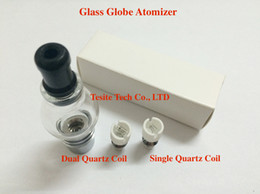 Glass Globe Atomizer Metal NZ - Newest Wax Coils Glass Globe Atomizer Dry Herb Vaporizer Replacement Wax Vapor Tank with Quartz Coil Head for EGO T Evod Battery