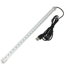 venda por atacado Edison2011 varejo usb smd5630 led tubo de luz de tira dura com interruptor para o carregador pc comprimidos e tampa leitosa e tampa transparente