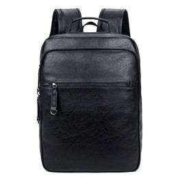 f5795fee8890 2017 New european fashion brand name leather backpack men genuine vintage  style big capacity designer backpacks cheap backpack brand names