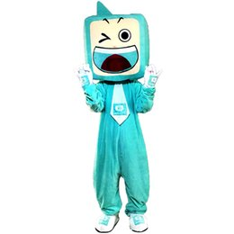 tv adults free Canada - 2018 New high quality TV Mascot costumes for adults circus christmas Halloween Outfit Fancy Dress Suit Free Shipping