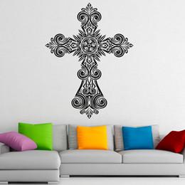 $enCountryForm.capitalKeyWord UK - Cross Wall Decals Jesus Christ Religion PVC Wall Sticker Home Decoration Living Room Sticker Wedding decoration