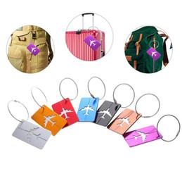 $enCountryForm.capitalKeyWord NZ - Air Plane Pattern Luggage Tag Baggage Handbag ID Tag Name Card Metal ID Tags Keychain 9 Colors 1000pcs OOA2489