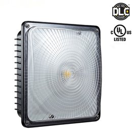 Discount industrial workshop lighting - UL DLC Approved 45W 70W LED Canopy Light Industrial Factory Led High Bay Light Gas Station Lamp Warehouse Lamp 5000K AC
