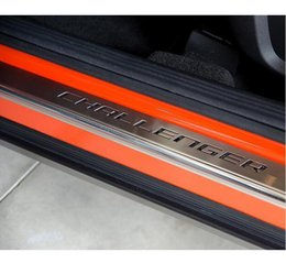 Discount door tread For Dodge Challenger Stainless Steel Door LED Sill Scuff Plate Guards Threshold Pad & Discount Door Tread | 2017 Door Tread on Sale at DHgate.com Pezcame.Com