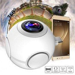 Discount micros electronics Pano Live I 360 Degree Dual lens VR Video Camera Real Time Seamless Stitching for Android Phone With Micro USB and Type-C Connector