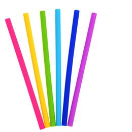Vente en gros pailles en silicone colorées pour tasses en silicone alimentaire grade 25cm pinces courbées pour pailles
