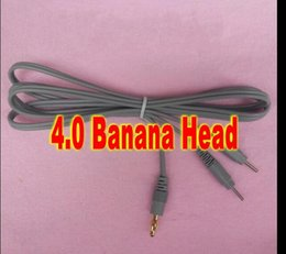 $enCountryForm.capitalKeyWord Canada - 4.0 Banana Head Wire 2pins electrode Connecting wire cable for tens ems physiotherapy machine ..