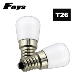 RefRigeRatoR bulbs online shopping - 4pcs T26 W E14 Refrigerator LED lighting mini bulb AC220V Bright indoor lamp for Fridge Freezer Crystal chandeliers Lighting